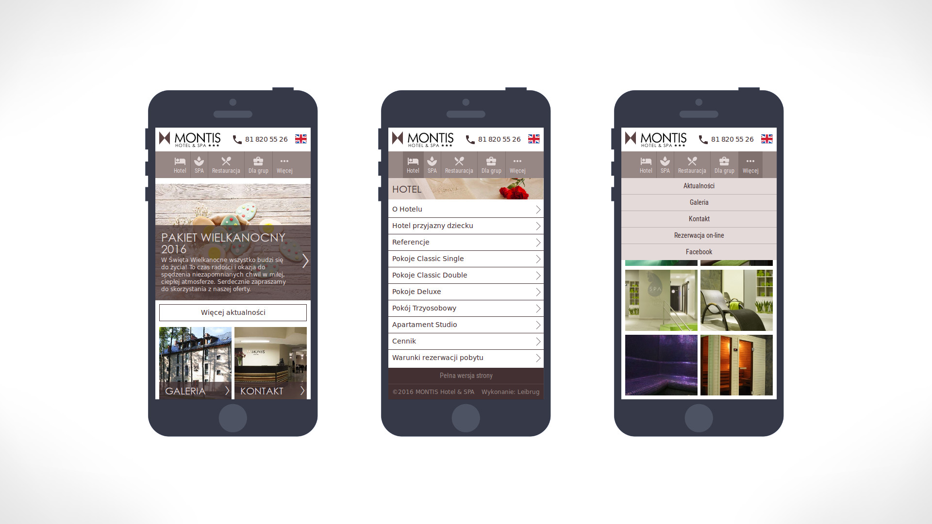 Hotel Montis mobile website preview